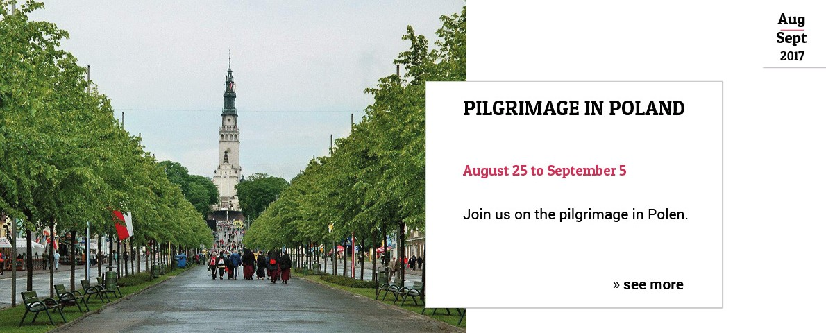 Flyer image: Pilgrimage in Poland